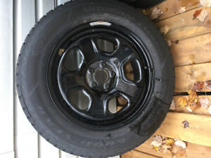 4 x 18-inch Goodyear Ultra Grip Ice on rims