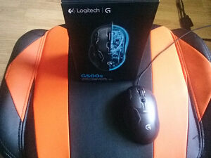Logitech G13 gaming keyboard and Logitech G500s mouse