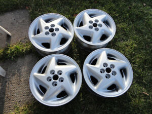 GM  15 inch Alloy rims 5 x 100 with  57.1 mm center