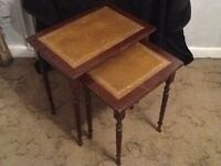 Georgian nest of two vintage tables