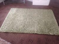 Stunning large deep pile light green shaggy rug