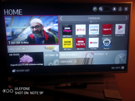 """47"""" LG SMART LED TV with remote control"""