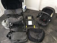 Full travel system pushchair car seat