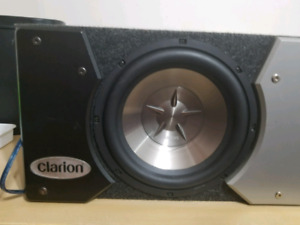 10 Inch subwoofer, box and amp