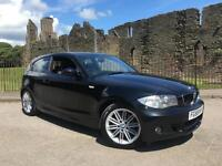 2008 58 BMW 118 2.0d M Sport Black 3 Door FSH