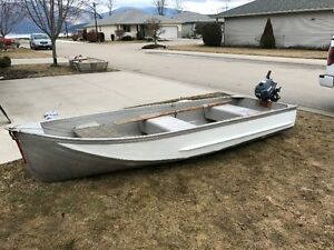 12``aluminum boat and Yamaha motor