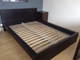 Bed frame MALM Black-brown