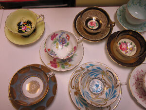 China Cups & Saucers -- FROM PAST TIMES Antiques - 1178 Albert