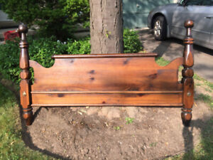 Solid Pine Queen Bed Headboard by Colonial NEW