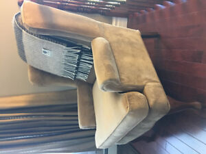 Accent chair in beige