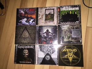 CD musique metal à vendre/ Metal CD's to sell