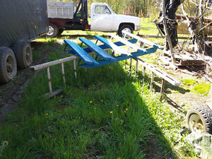 10 foot scafold with wheel system  $100