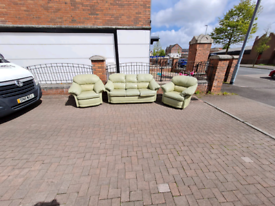 311 seater sofa in a mint leather Hyde throughout £99