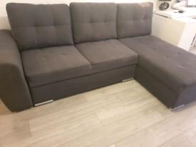 Grey used sofa bed