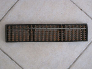 Antique Japanese Wooden Abacus Soroban Calculator 21 Digits