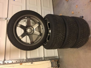 Hyundai Genesis Winter Tires on Sport rims