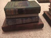 Vintage/antique books for display