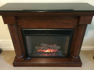 Twin-Star Electric Fireplace, Graint Top
