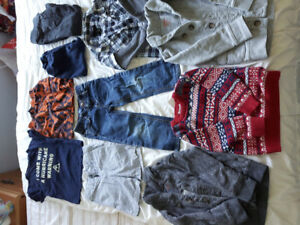 Boys clothing size 3/3t and size 9 sandals