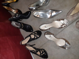 15 Pairs of Ladies high heels shoes! Spring Cleaning...