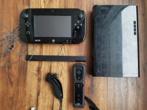 WiiU 32GB with 15 games, extra controller, all hookups