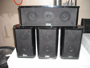 book shelf speakers with centre channel