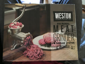 Weston Meat Grinder and Sausage stuffer