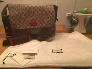 LIKE NEW Gucci Strawberry Print GG Canvas Bag FOR SALE