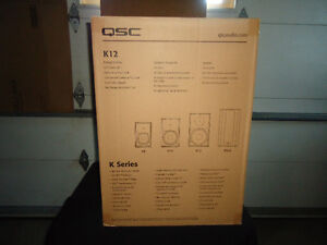Qsc k12 powered speakers- brand new