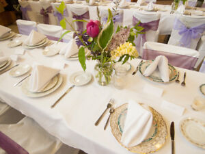 Tablecloths and runners wedding or catering