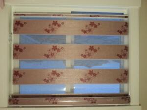 The blind spot window coverings (zebra Sheer / honey comb/ tripl