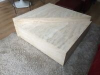 Gorgeous Italian Marble coffee tables (set of 2)