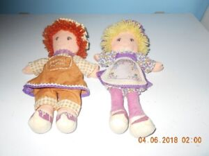 toys 1980 peanut butter and jelly rag dolls and set of 5 puppets