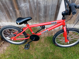 Trax bmx bike, 20 inch wheels, suit kids or teenagers