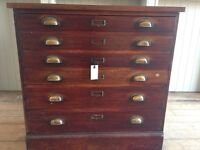 Vintage drawers /plan chest