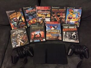 PS2 slim with 9 games