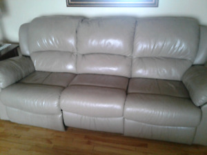 Leather  Reclining Chesterfield