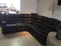 Sectional Recliner Black bonded leather Sofa for only 999$