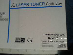 Black toner cartridge for use with HP laser printers. BRAND NEW