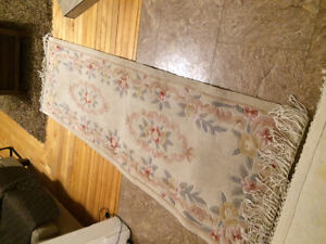 Oriental area rug and runner