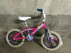 Kids Disney Princess bike with training wheels