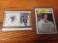 Wayne Gretzky stamp and 1988-89 Topps hockey card