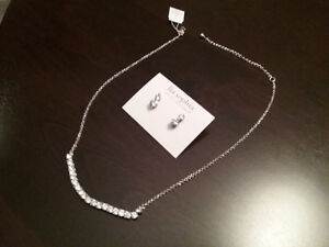 LIA SOPHIA NECKLACE & EARRINGS  (NEW)