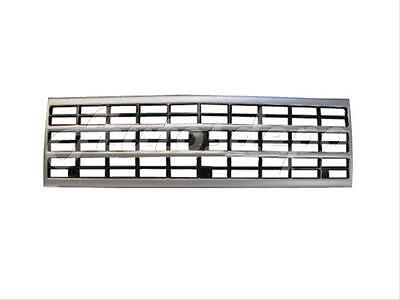 (For 1989-1991 Chevy C10-30 Pickup 92-96 Van Single Rect Grille Silver/Gray)