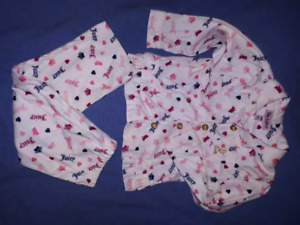 Toddler Girls PJ's 2pair,Juicy Couture,Carters,Size 24mts