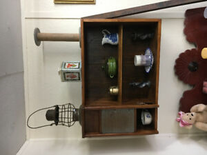 Upcycled Washboard cupboard /shelf