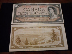 ** 1954 $100.00 Bank Note**