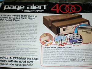 Theft alert paging systems