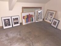 Assorted pictures, prints, frames, mirror etc