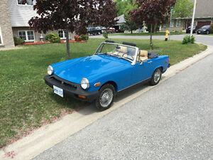 Blue MG Midget for sale